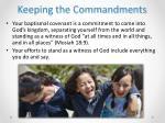 keeping the commandments