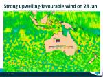 strong upwelling favourable wind on 28 jan