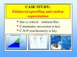 case study enhanced upwelling and carbon sequestration