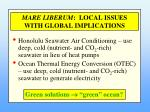 mare liberum local issues with global implications