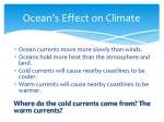 ocean s effect on climate