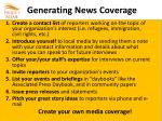 generating news coverage