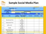 sample social media plan1
