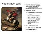 nationalism cont