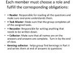 each member must choose a role and fulfill the corresponding obligations