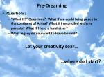 pre dreaming