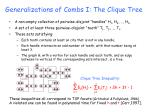 generalizations of combs i the clique tree