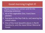good morning english ii