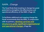 napa change