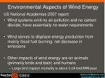 environmental aspects of wind energy
