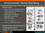environmental human well being