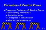 perimeters control zones
