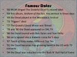 famous dates