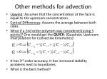 other methods for advection
