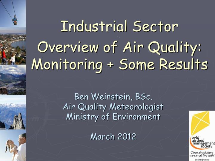 industrial sector overview of air quality monitoring some results n.