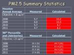 pm2 5 summary statistics