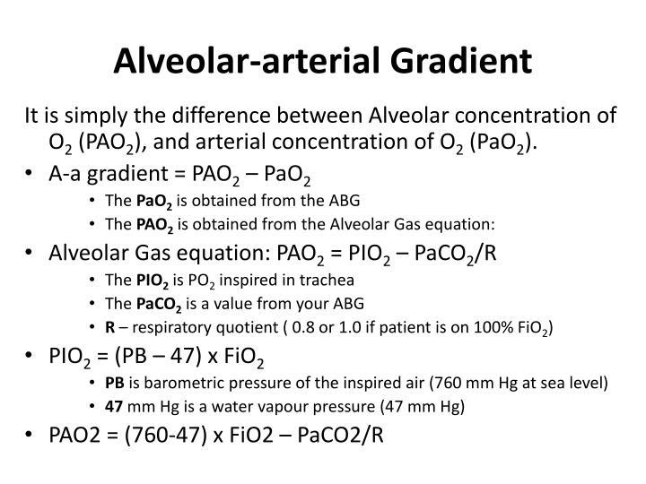 Alveolar-arterial Gradient