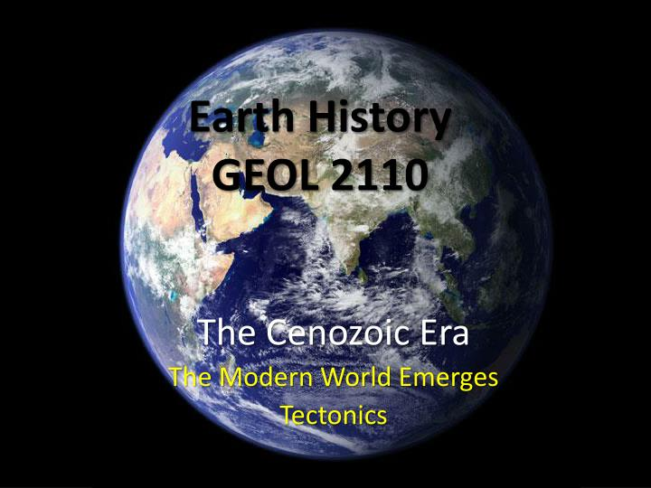 earth history geol 2110 n.