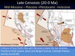 late cenozoic 20 0 ma mid miocene pliocene pleistocene holocene