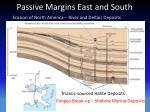 passive margins east and south