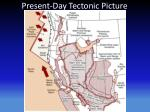 present day tectonic picture