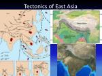 tectonics of east asia