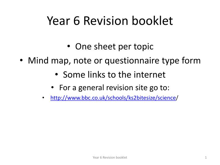 year 6 revision booklet n.