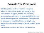 example f ree v erse poem1