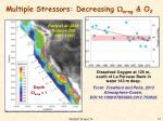 multiple stressors decreasing arag o 2