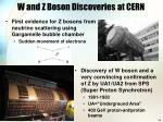 w and z boson discoveries at cern