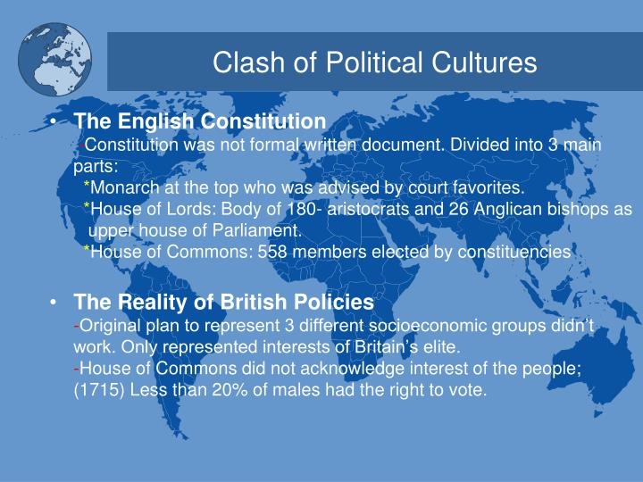 Clash of Political Cultures