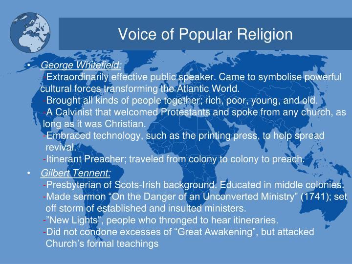 Voice of popular religion