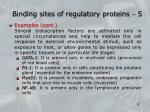 binding sites of regulatory proteins 5