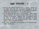 cpg islands 1