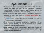 cpg islands 7