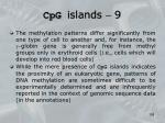 cpg islands 9