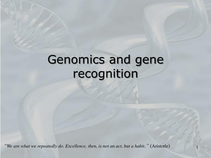 genomics and gene recognition n.