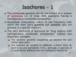 isochores 1