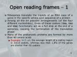 open reading frames 1