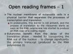open reading frames 11