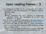 open reading frames 3