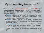open reading frames 31