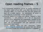 open reading frames 5