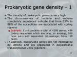 prokaryotic gene density 1