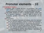 promoter elements 10