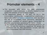 promoter elements 4