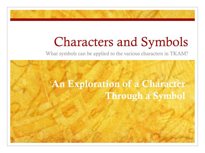 characters and symbols n.