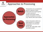 approaches to processing