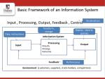 basic framework of an information system
