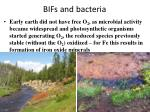 bifs and bacteria